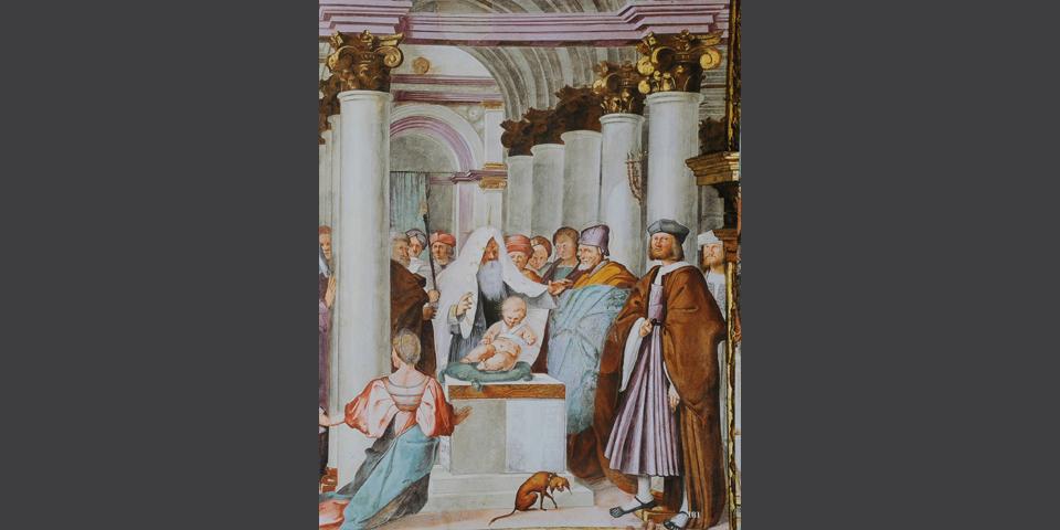 Cremona, fresco in the Cathedral with circumcision © Alberto Jona Falco