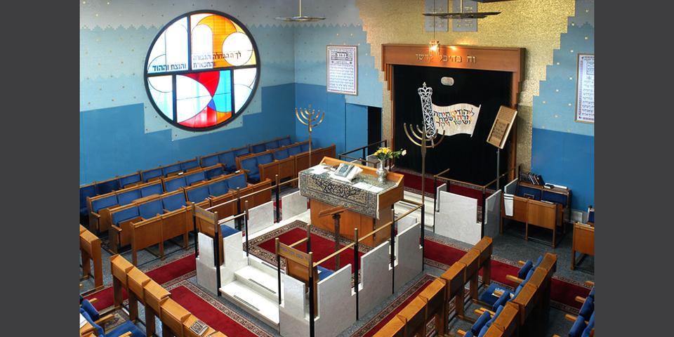 Milano la sinagoga Noam interno dal matroneo © Alberto Jona Falco