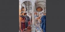 Cremona, fresco in the Cathedral with Hebrew inscriptions © Alberto Jona Falco