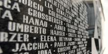 Milano sinagoga centrale facciata elenco deportati © Alberto Jona Falco