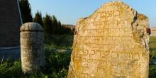 Rivarolo Mantovano, tombstones and memorial stones put back outside the cemetery © Alberto Jona Falco